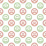 Bezszwowy emoji wzór Obrazy Royalty Free