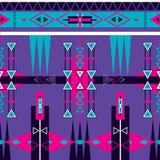 Bezszwowy etniczny plemienny deseniowy ornament Obraz Royalty Free