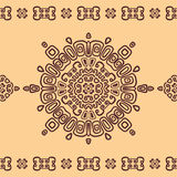 Bezszwowy etniczny wzór Zdjęcie Royalty Free
