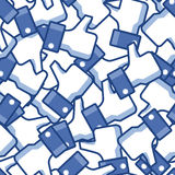 Bezszwowy Facebook kciuka tło Zdjęcia Stock