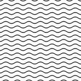 Bezszwowy falisty linia wzór Obraz Stock