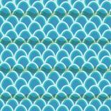 Bezszwowy falowego wzoru tło Obrazy Stock