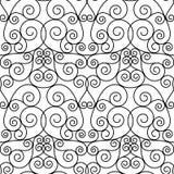 Bezszwowy forged openwork metalu abstrakta czerń Obraz Royalty Free