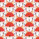 Bezszwowy Fox wzór Fotografia Stock