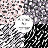 bezszwowy futerko zwierzęcy wzór Lampart, tygrys, irbis skóry abstrakcjonistyczne tapety ilustracji