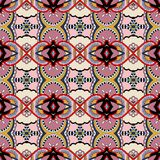 Bezszwowy geometria rocznika wzór, etniczny styl Fotografia Royalty Free
