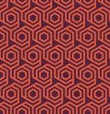 Bezszwowy geometryczny abstrakcjonistyczny heksagonalny wzór - eps8 royalty ilustracja