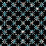 Bezszwowy geometryczny czarny tło z kolorowy dekoracyjnym royalty ilustracja