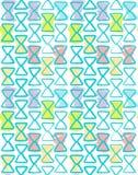 Bezszwowy geometryczny deseniowy akwarela kolor Obraz Royalty Free