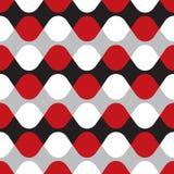 Bezszwowy geometryczny falowy skręta wzór ilustracji