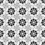 Bezszwowy geometryczny i kwiecisty wzór Obrazy Royalty Free