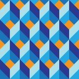 Bezszwowy geometryczny kolorowy wektorowy mieszkanie wzór royalty ilustracja