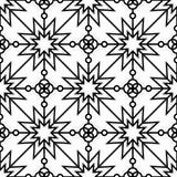 bezszwowy geometryczny monochromu wzór Fotografia Stock