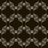 Bezszwowy geometryczny ornamentu wzór Elegancki tło wektor r Obraz Stock