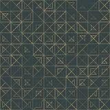 Bezszwowy geometryczny, rocznika wzór z ilustracja wektor