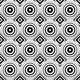 Bezszwowy geometryczny tło, prości czarny i biały lampasy ve ilustracja wektor