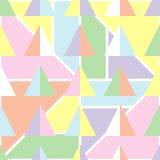 Bezszwowy geometryczny tło z miękkimi pastelowymi kolorami Obrazy Royalty Free