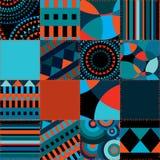 bezszwowy geometryczny tło patchwork Zdjęcie Royalty Free