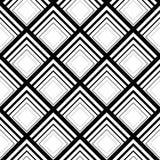 Bezszwowy geometryczny wektorowy tło, prosty czarny i biały str Fotografia Stock