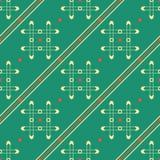 Bezszwowy geometryczny wzór grilles, kropki i przekątna, wykłada Zdjęcie Stock
