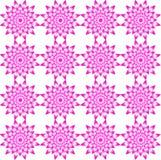 Bezszwowy geometryczny wzór, składać się z kwiaty menchie barwi Zdjęcie Royalty Free