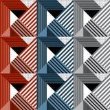Bezszwowy geometryczny wzór w retro stylu Zdjęcia Royalty Free