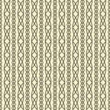 Bezszwowy geometryczny wzór wyplata warkocze Zdjęcie Stock