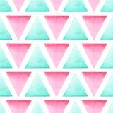 Bezszwowy geometryczny wzór z jaskrawymi trójbokami Obrazy Royalty Free