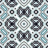 Bezszwowy geometryczny wzór z kwadratami i prostokątami Zdjęcia Royalty Free