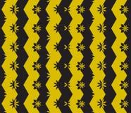 Bezszwowy geometryczny wzór z kwiatami Zdjęcia Royalty Free