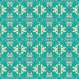 Bezszwowy geometryczny wzór z prostą linią i formy tworzy wyłącznego spojrzenie ilustracja wektor