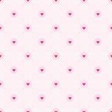 Bezszwowy geometryczny wzór z sercami Obrazy Stock