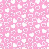Bezszwowy geometryczny wzór z sercami wektor Zdjęcia Stock