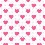 Bezszwowy geometryczny wzór z sercami wektor ilustracji