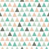 Bezszwowy geometryczny wzór z trójbokami w pociągany ręcznie stylu ilustracja wektor