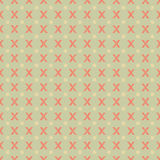 Bezszwowy geometryczny wzór z wzorzystym X na zielonym tle ilustracja wektor