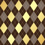 Bezszwowy geometryczny wzór z złotych i brązu rhombuses royalty ilustracja