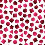 Bezszwowy geometryczny wzór z zmrokiem - place czerwoni dla tkanki i pocztówek ilustracji