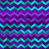 Bezszwowy geometryczny wzór z zygzag Fotografia Royalty Free