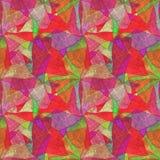 Bezszwowy grunge tło, kalejdoskopowy stubarwny wzór jaskrawy, ilustracja wektor