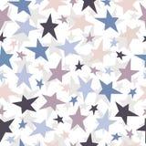 Bezszwowy gwiazda wzór. Wektorowy tekstury illustrati Fotografia Royalty Free