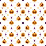Bezszwowy Halloween Deseniowy biały tło Zdjęcie Royalty Free