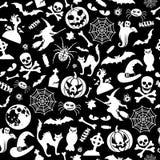 bezszwowy halloween wzoru zdjęcie royalty free