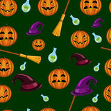 bezszwowy halloween wzoru Fotografia Stock