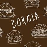 Bezszwowy hamburgeru tło ilustracji