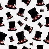Bezszwowy Hatter kapelusz od kraina cudów światu Obraz Royalty Free