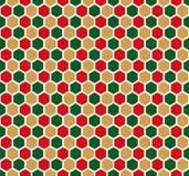 Bezszwowy heksagonalny honeycomb wzoru tekstury tło ilustracji