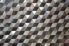 Bezszwowy heksagonalny metalu wzoru tła, światła i cienia metalu tekstury abstrakt, fotografia stock