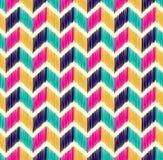 Bezszwowy herringbone tafluje kolorowego wzór Zdjęcia Royalty Free