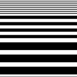 Bezszwowy Horyzontalny lampasa wzór Wektorowy Czarny I Biały Backg ilustracji